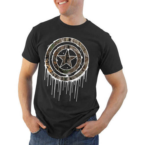 Captain America Realtree Shield Big Men's Graphic Tee