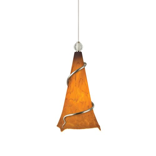 Tech Lighting 700TDOVPANN-CF277 Ovation Tahoe Pine Amber Hand Pulled Glass 277v