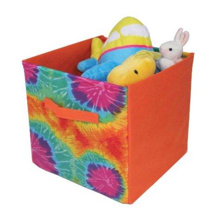 "Image of Kid Style Tie Dye Cube, Orange, 12"" x 12"" x 12"""