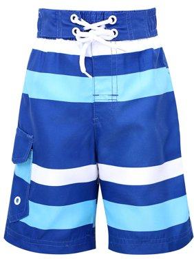 Fast Drying Summer Kids' Swim Trunks w/UPF 50+ Sun Protection,Stripe