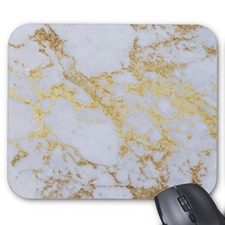 POPCreation gold glitter marble Mouse pads Gaming Mouse Pad 9.84x7.87 inches ()