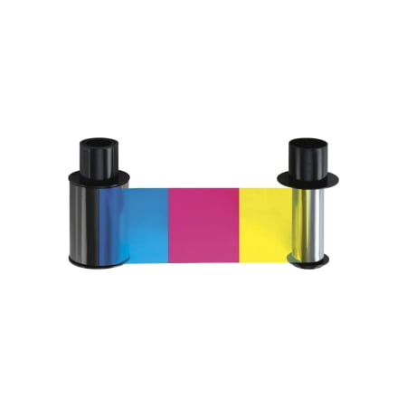 YMCKO FULL-COLOR RIBBON 500 IMG W/RESIN BLACK & CLEAR PANEL DTC4500