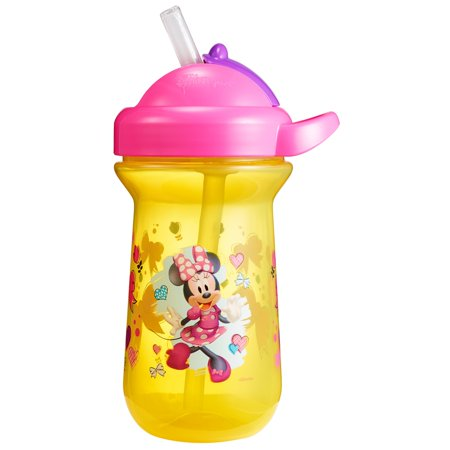 Disney Minnie Mouse Flip Top Cup with Straw & Lid, 9 Oz