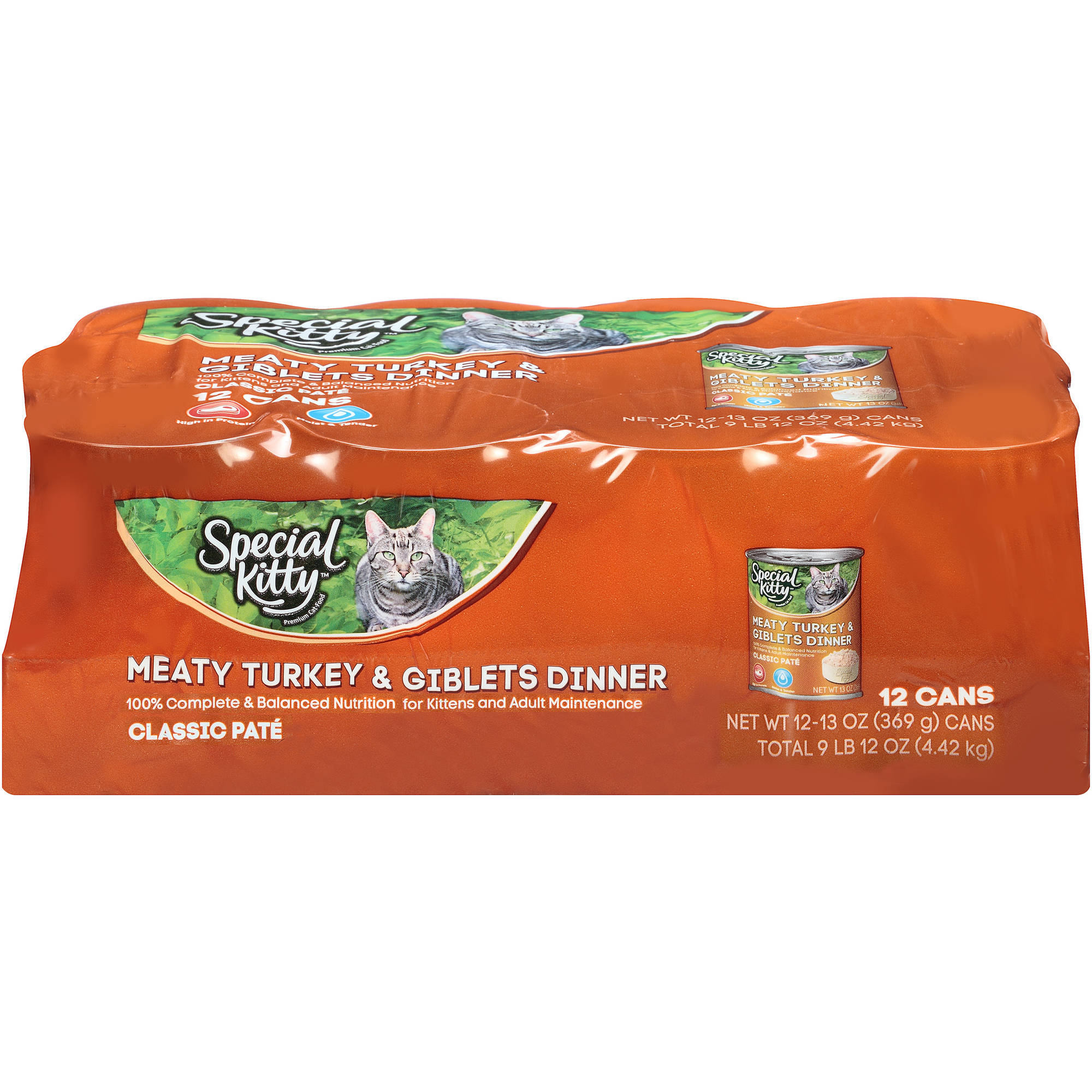 Special Kitty Meaty Turkey & Giblets Dinner Wet Cat Food 12-13 oz. Cans