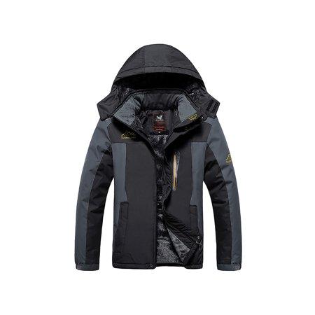 Men's Mountain Waterproof Ski Jacket Windproof Rain Jackets Plus