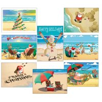 Beach Christmas Card Variety Pack 24 Cards & 25 Envelopes
