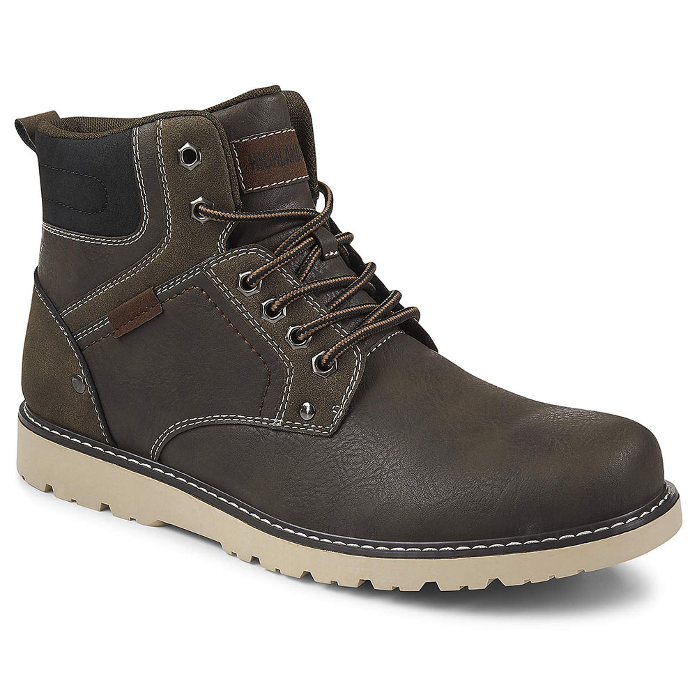Highland Creek Mens Denver Lace Up Hiking Boot Shoes