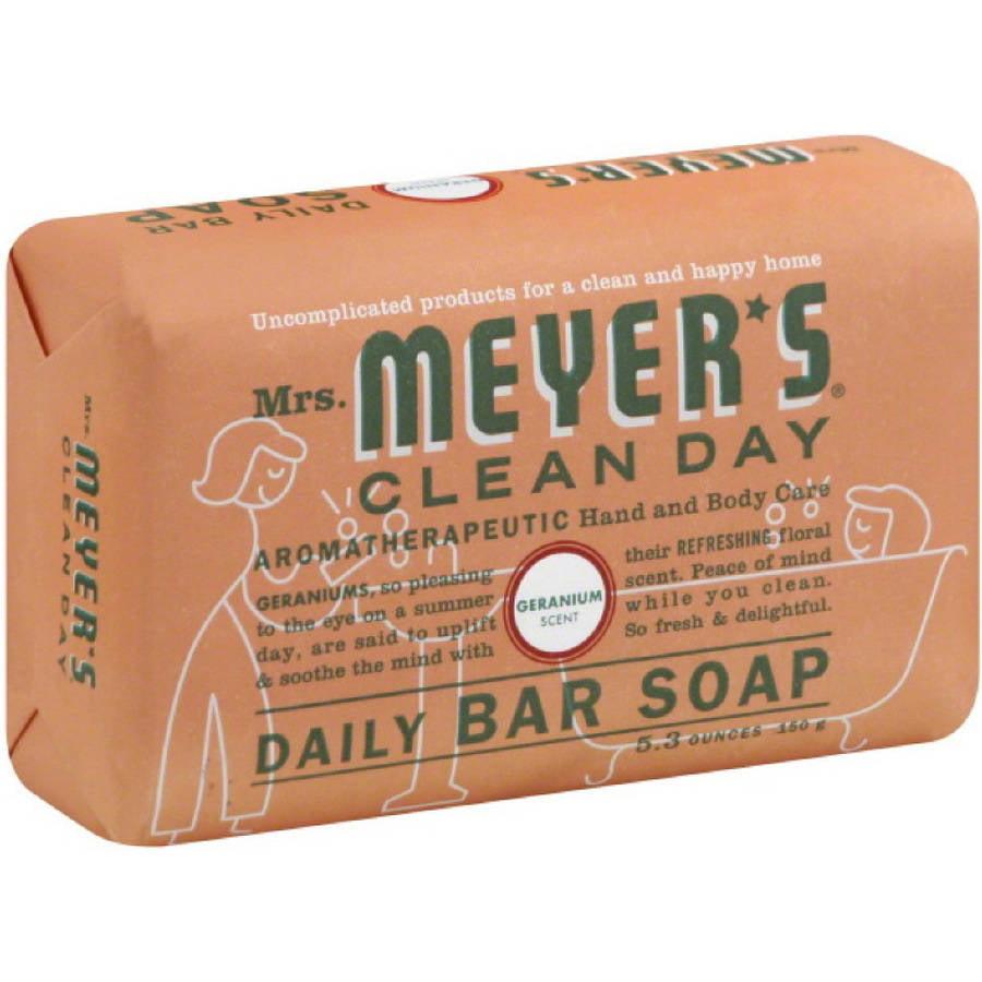 Mrs. Meyers Geranium Bar Soap, 5.3 OZ (Pack of 12)