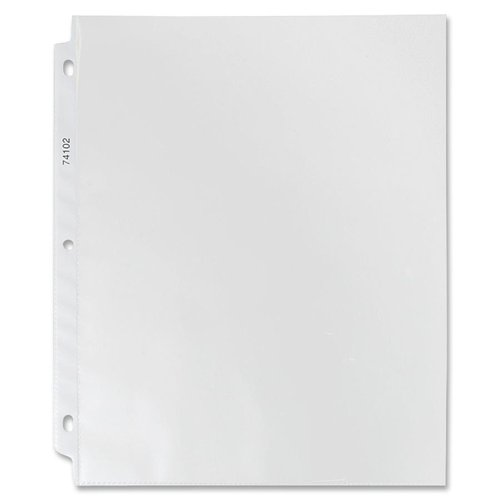 "74102 Sparco Hvy-duty 3-Hole Top-loading Sheet Protector - 3.3 mil Thickness - Letter 8.50"" x 11"" - Rectangular - Polypropylene - 100 / Box - Non-glare"