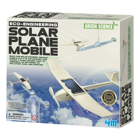 4M Green Science Eco-Engineering Solar Plane Mobile Kit](Green Science Kits)