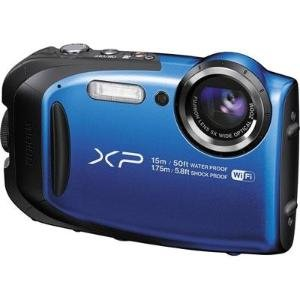FujiFilm FinePix XP80 Waterproof 16.0 MP Digital Camera with 2.7-Inch LCD (Blue) (International Model) No Warranty by Fujifilm