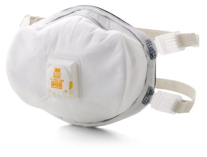 3M Particulate Respirator 8233, N100- 2 Pack by