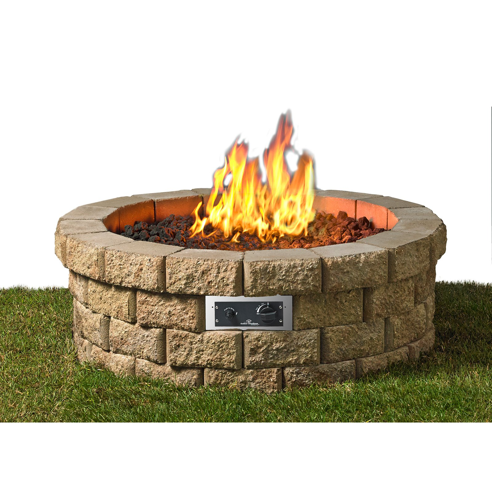 Outdoor GreatRoom Hudson Stone DIY Firepit Kit by Firepits