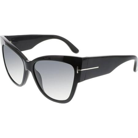 Women's Gradient Anoushka FT0371-01B-57 Black Cat Eye Sunglasses
