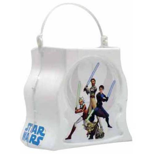 Star Wars The Clone Wars Trick-or-Treat Halloween Candy Pail Halloween Costume Accessory (Halloween Pails Wholesale)