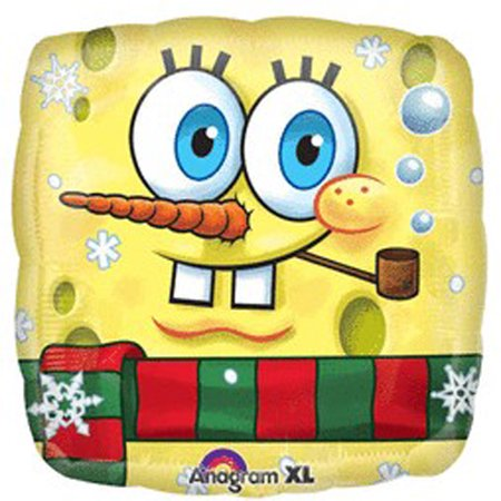 Spongebob Squarepants Party Ideas (SpongeBob SquarePants Snowman Foil Mylar Balloon)