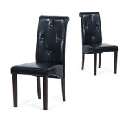 Warehouse of Tiffany Black Polyurethane-Leather Dining Room Chairs (Set of 8) by Overstock