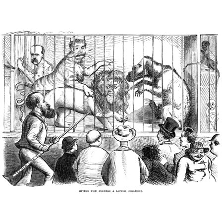 Wild Men Of Wall Street NGiving The Animals A Little Sunlight Published Following Black Friday (September 24) This American Newspaper Cartoon Of 1869 Shows Charles A Dana Of The Sun Newspaper From New