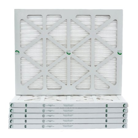 12 Pack of 24x30x1 MERV 10 Pleated Air Filters by Glasfloss. Actual Size: 23-5/8 x 29-5/8 x 7/8