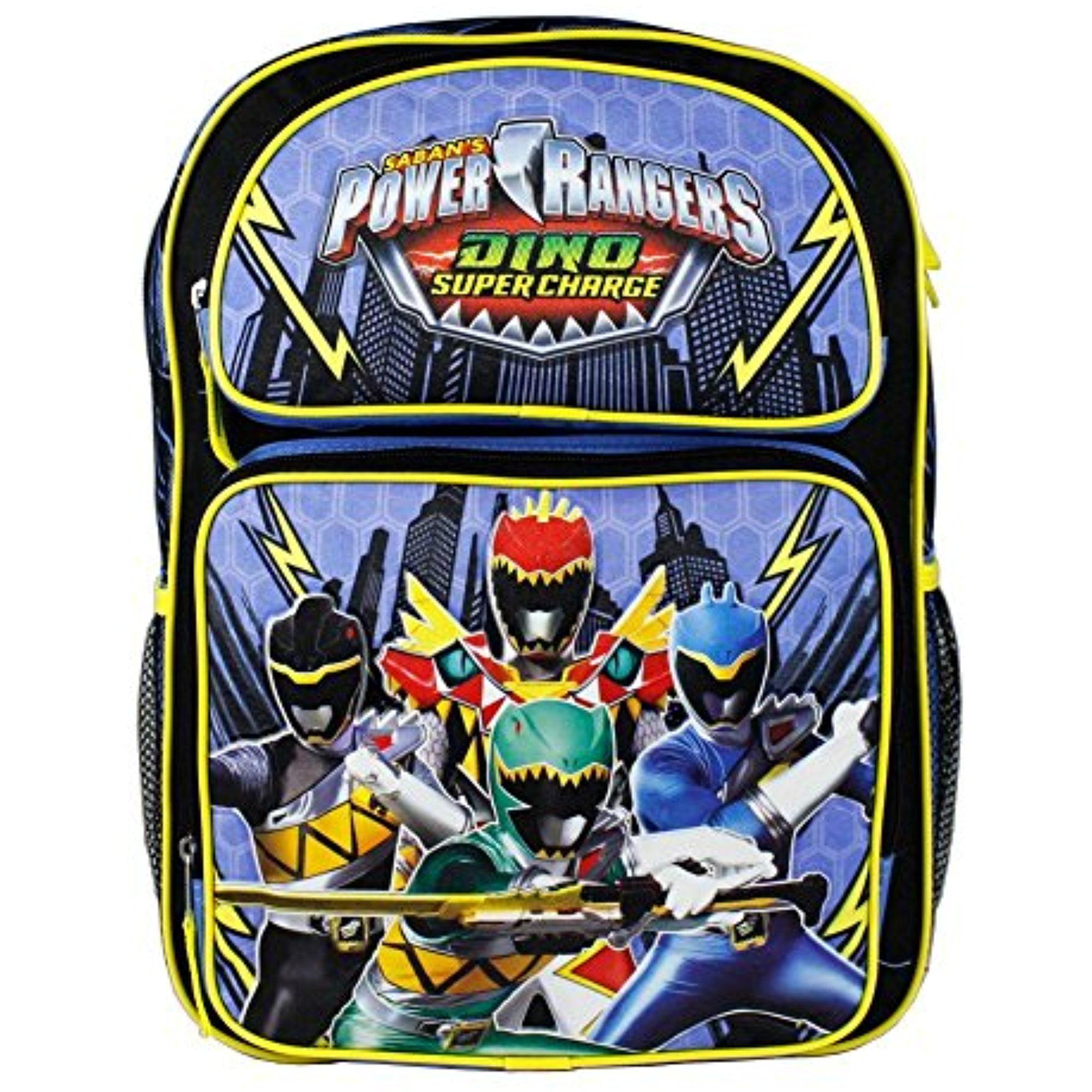 "Saban Power Rangers Dino Supercharge 16"" Black Backpack f..."