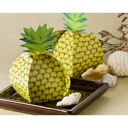 Tropical Treats Oversized Pineapple Favor Box (24 Pack)](Pineapple Party Favors)