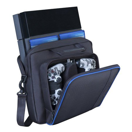 Leapster Carrying Case (PS4 Bag, Hard case for PS4 and PS4 Slim,Store and Carry Sony Playstation 3&4, Gaming Accessories Handbags/,Laptop Storage Bag Console Carrying Hard Case )