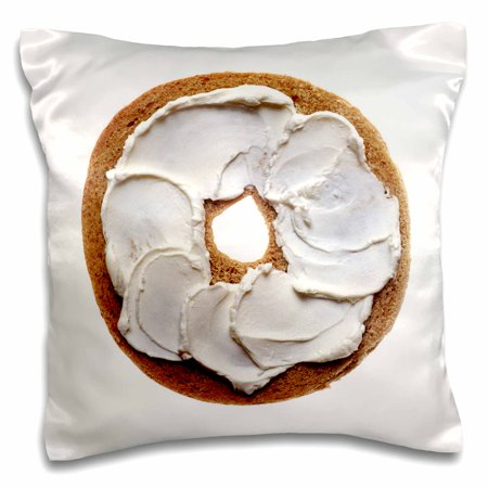 3dRose Bagel With Cream Cheese Isolated On White, Pillow Case, 16 by 16-inch - Cream Cheese Lemonade Pie