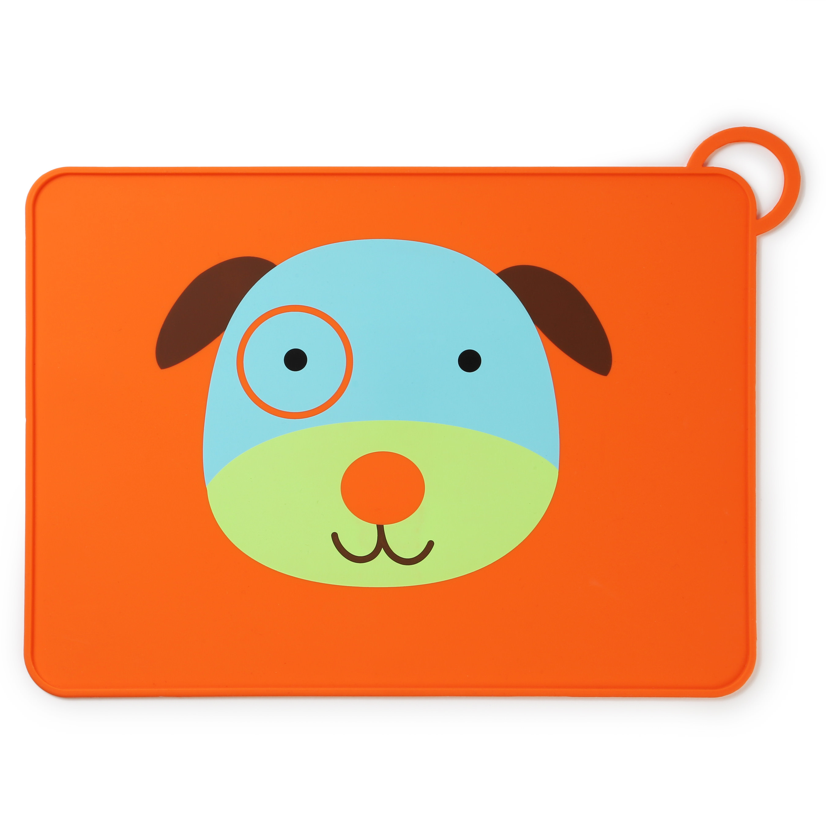 Skip Hop Zoo Fold & Go Silicone Placemat, Dog