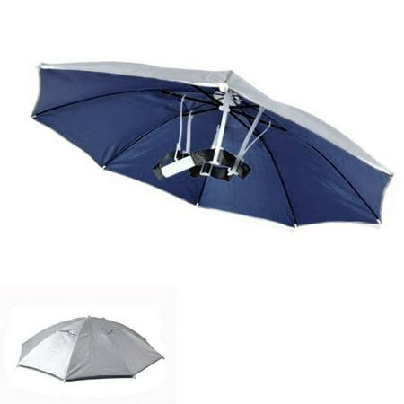 Practical Headband Multicolor Outdoor Sport Foldable Umbrella Hat Cap Rain