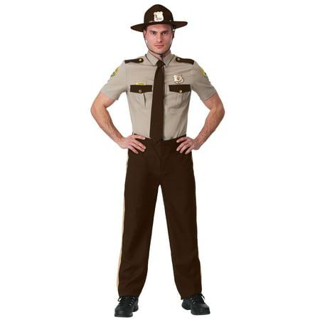 Super Troopers Costume Bear (Adult State Trooper Costume- Super)