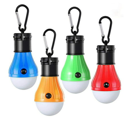Coolmade LED Lantern Tent Camping Light 4 Pack Portable LED Tent Lamp Emergency Light Bulb Battery Operated 3 Mode Night Light for Backpacking Hiking Fishing Shed Playhouse Indoor Outdoor Activities](Bulk Night Lights)