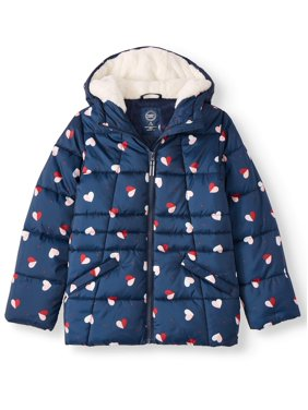 Wonder Nation Printed Quilted Bubble Jacket (Little Girls & Big Girls)