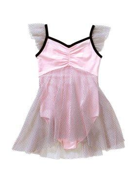 Danskin Now Girls Dancewear Pin Dot Babydoll Skirted Leotard