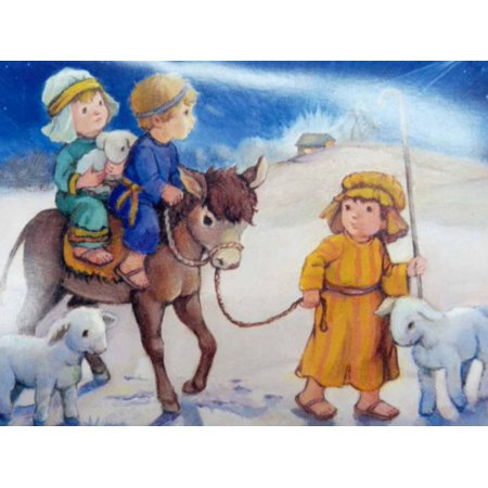 Trimmerry Child Shepherds Going to Meet Baby Jesus Christian Christmas Cards](Christian Birthday)