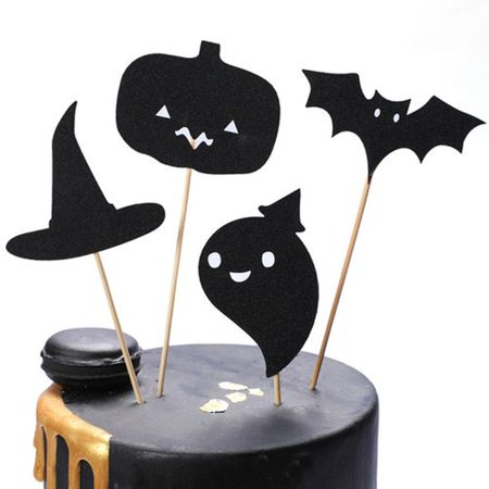 Witch Themed Halloween Food (KABOER Halloween Tree Monster Witch Ghost Haunted House Plug Muffin Decoration Halloween Theme Party)