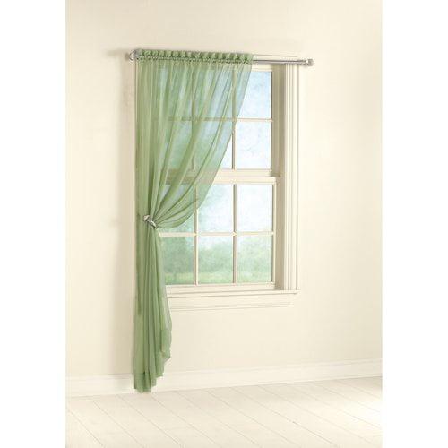 Mainstays Marjorie Window Panel, Sage Legume