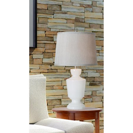 Kenroy Home Aniston Table Lamp, Milk White Glass