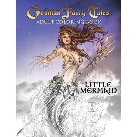 Grimm Fairy Tales Adult Coloring Book: The Little Mermaid - Adult Furries