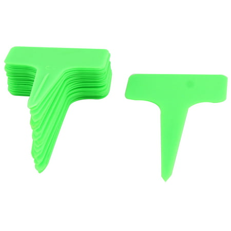 - Parterre Home Garden Plastic Rectangle Shaped Plant Seed Tag Label Green 20pcs