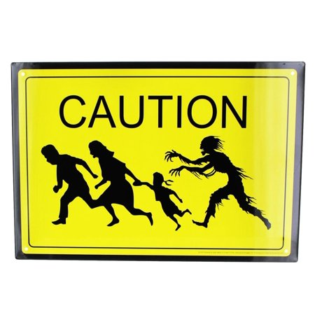 Caution Zombies Tin Sign](Caution Zombies)