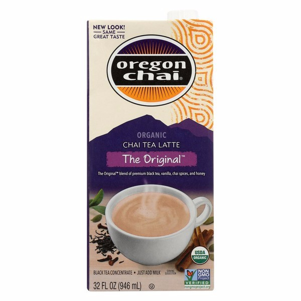 Oregon Chai Tea Latte Concentrate - The Original - Pack of 6 - 32 Fl Oz.