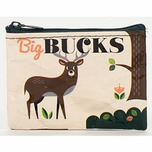 "Coin Purse - Blue Q - Big Bucks 4x3"" Wallet Bag QA566"