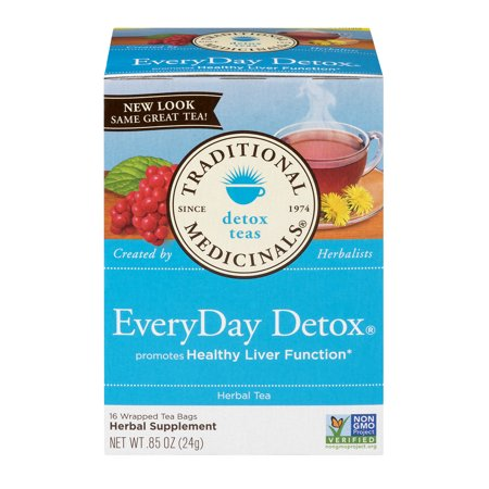 Traditional Medicinals EveryDay Detox Herbal Supplement Tea Bags - 16 CT