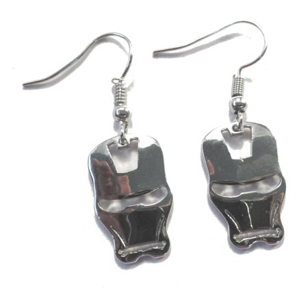 Dangle Earrings Marvel Iron Man Silver Mask Logo In Gift Box by Superheroes](Jim Dangle Costume)