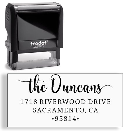 Yours Self Inking Stamper (Custom Stamp, Address Stamp, Self-Inking Address Stamp )