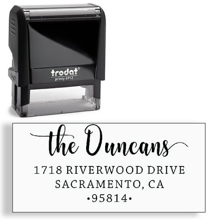 Custom Stamp, Address Stamp, Self-Inking Address Stamp
