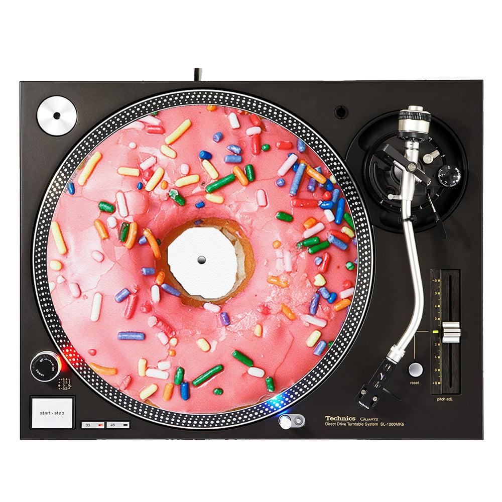 "KuzmarK™ 12"" DJ Turntable Slipmat - Donut Sprinkles"