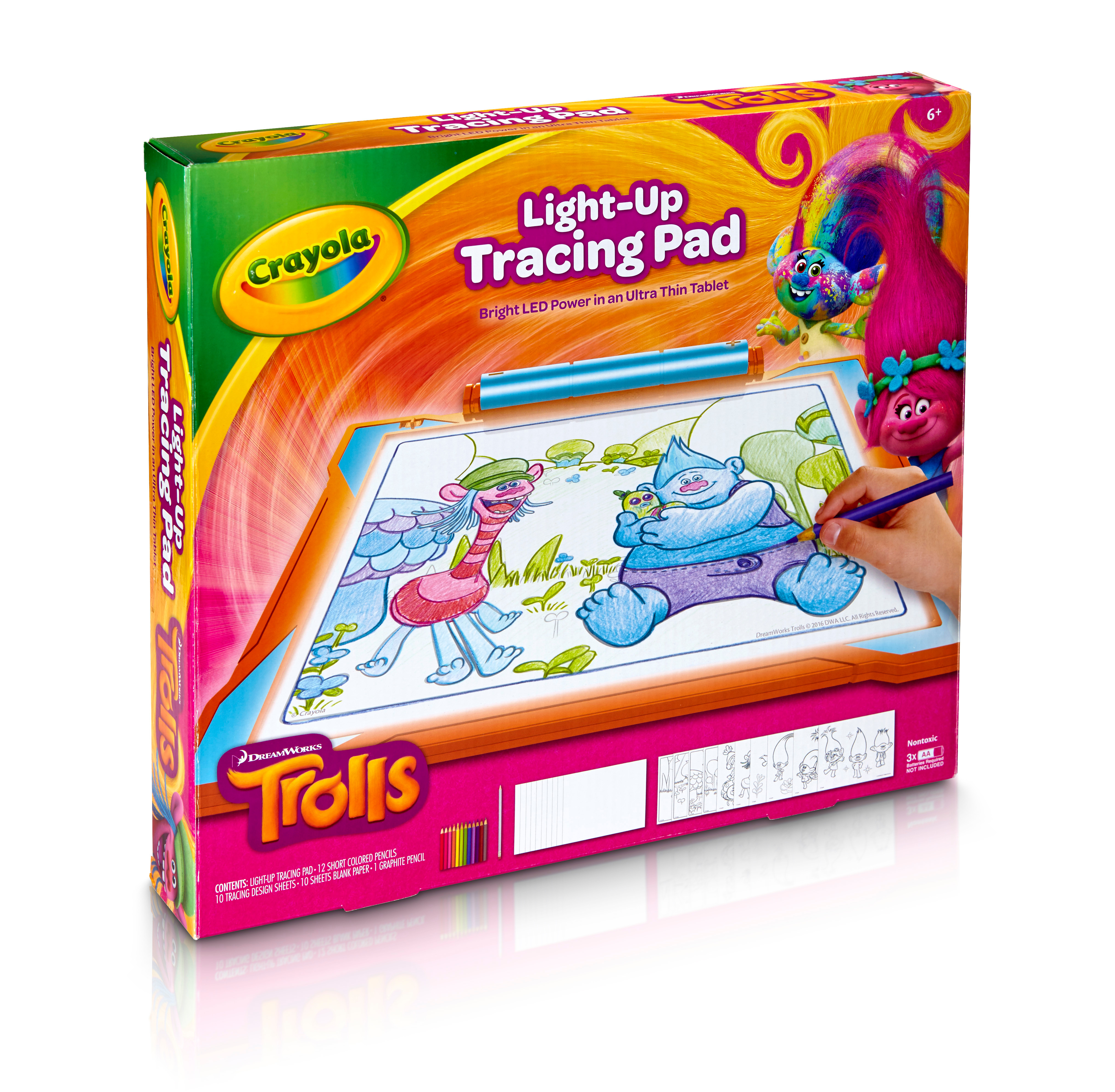 Crayola Trolls Light Up Tracing Pad Gift Toys For Kids Ages 6 Walmart Com Walmart Com