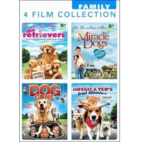 Dog Lovers: The Retrievers / Miracle Dogs / Dog Gone / Aussie & Ted's Great Adventure (Full Frame)