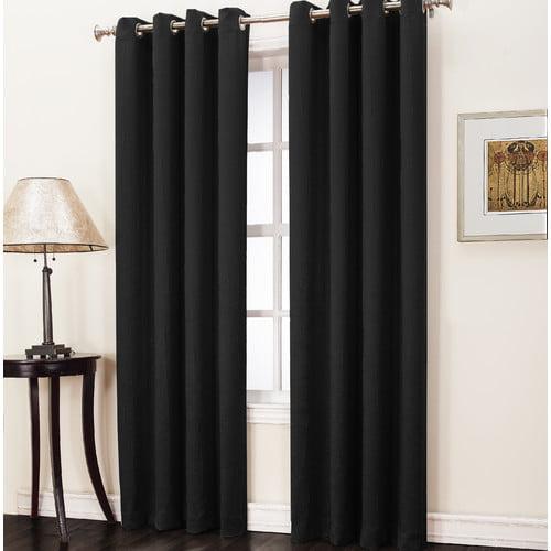 Sun Zero Trey Solid Room Darkening Grommet Single Curtain Panel